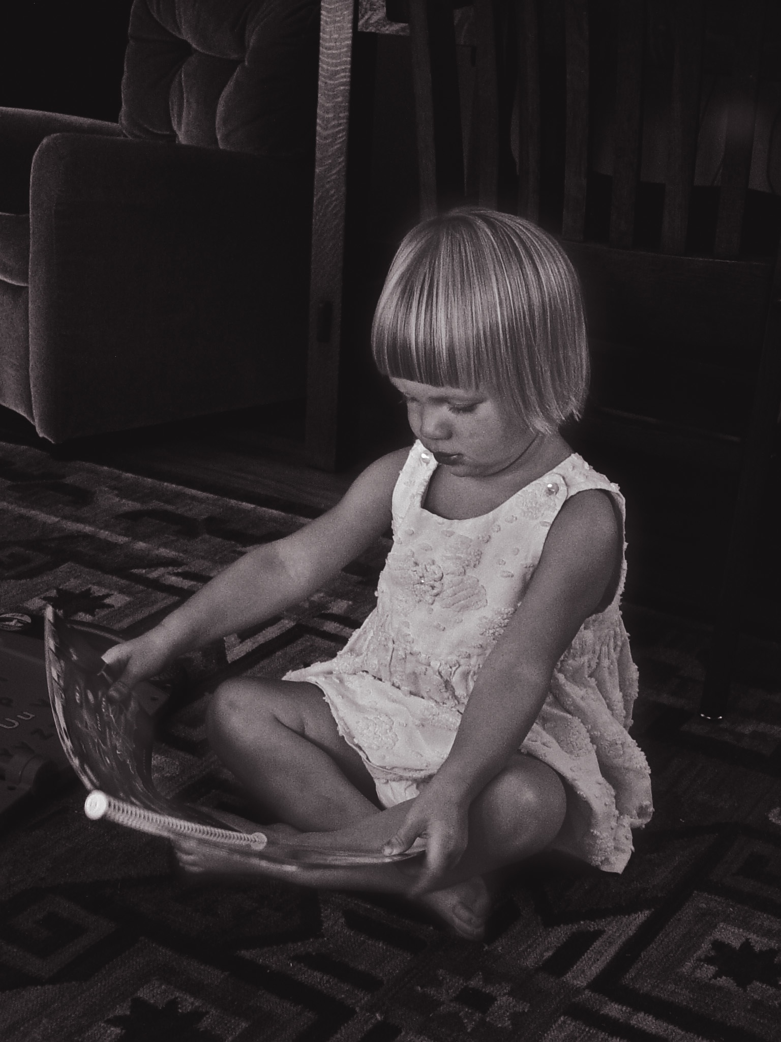 Girl Reading B&W